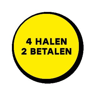 Halen/Betalen stickers geel-zwart rond 30mm