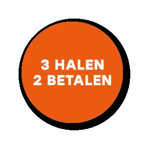 Halen/Betalen stickers oranje-wit rond 30mm
