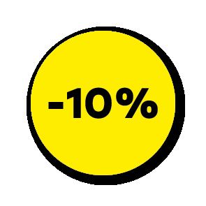 Kortingsstickers geel-zwart rond 30mm