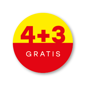 Plus stickers geel-rood-wit rond 30mm
