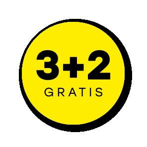 Plus stickers geel-zwart rond 30mm