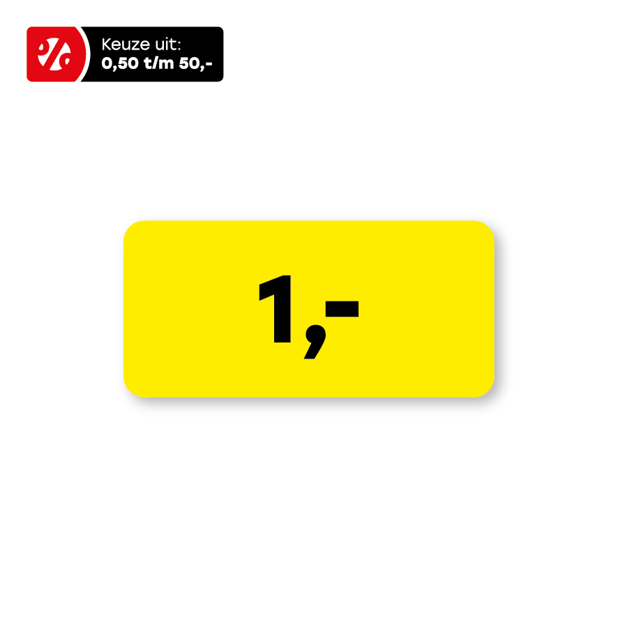 Prijsstickers geel-zwart rechthoek 36x17mm