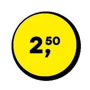 Prijsstickers geel-zwart rond 30mm