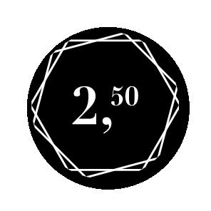 Prijsstickers hexagon zwart-wit rond 30mm