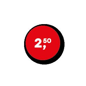 Prijsstickers rood-wit rond 15mm