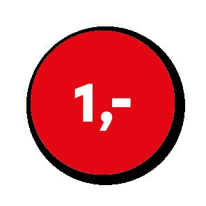 Prijsstickers rood-wit rond 30mm
