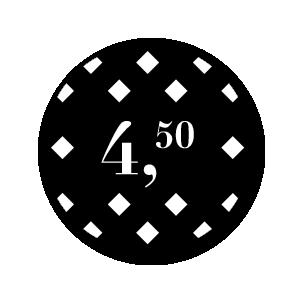Prijsstickers ruiten zwart-wit 30mm