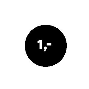 Prijsstickers zwart-wit rond 15mm