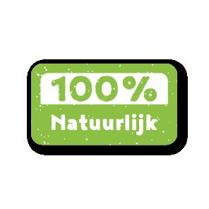 Stickers '100% Natuurlijk' lichtgroen-wit rechthoek 38x21mm