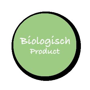 Stickers 'Biologisch Product' lichtgroen-wit rond 30mm