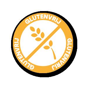 Stickers 'Glutenvrij' lichtoranje-wit 30mm