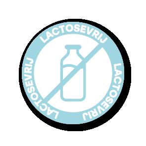 Stickers 'Lactosevrij' lichtblauw-wit 30mm