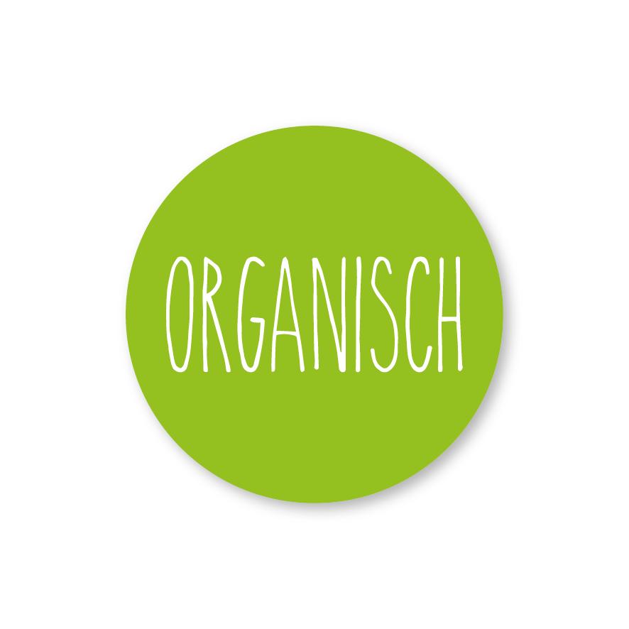 Stickers 'Organisch' lichtgroen-wit rond 30mm