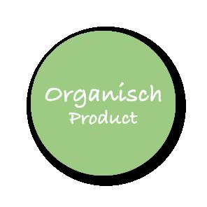Stickers 'Organisch Product' lichtgroen-wit rond 30mm