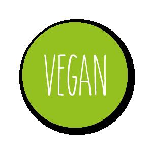 Stickers 'Vegan' lichtgroen-wit rond 30mm