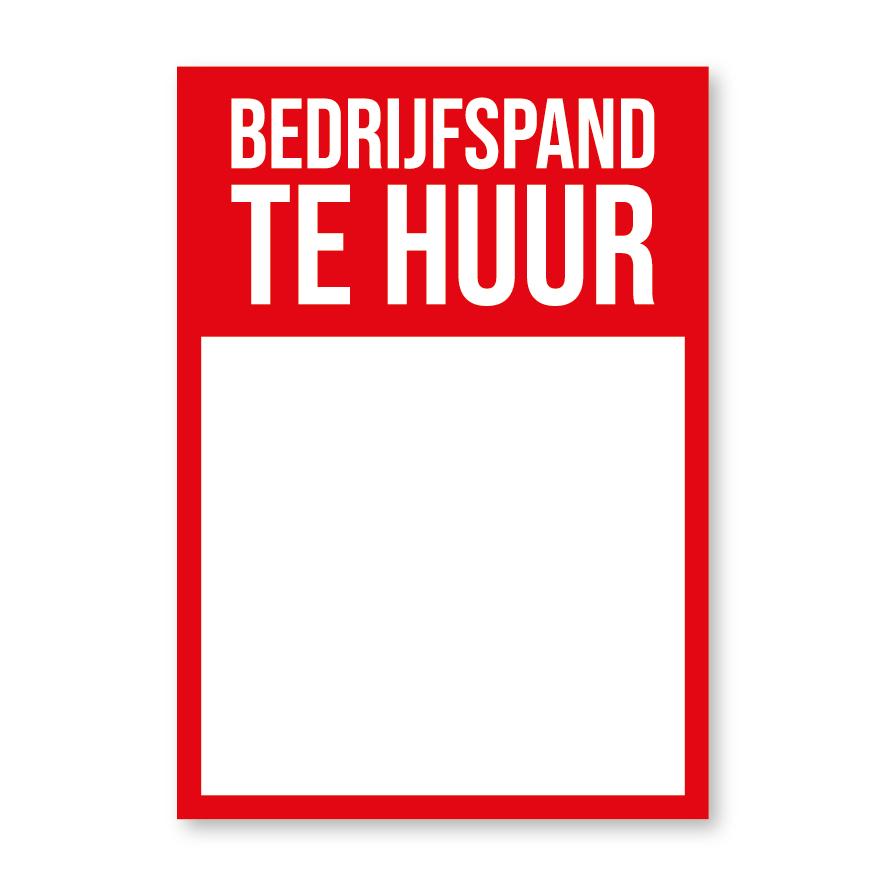 Bedrijfspand Te Huur poster rood