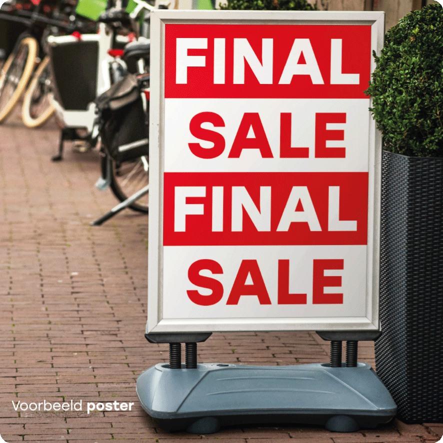 Voorbeeld final sale poster stoepbord