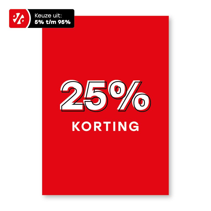 Korting poster