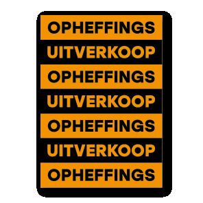 Opheffingsuitverkoop poster