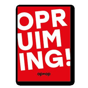 Opruiming poster