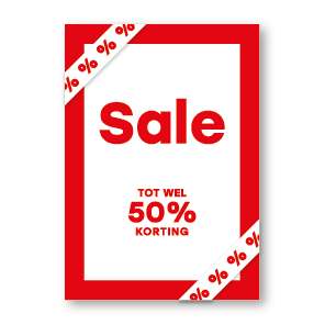 Sale Korting poster