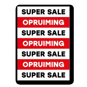 Super sale opruiming poster