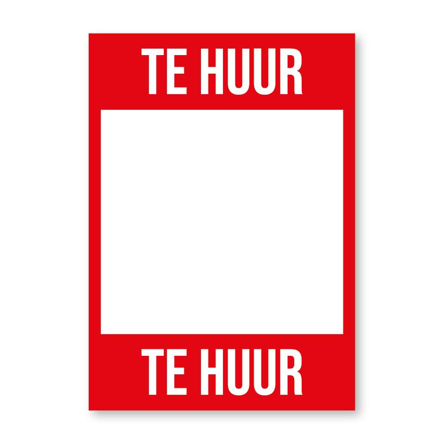 Te Huur poster rood