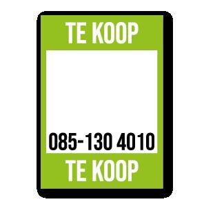Te Koop poster lichtgroen met eigen telefoonnummer