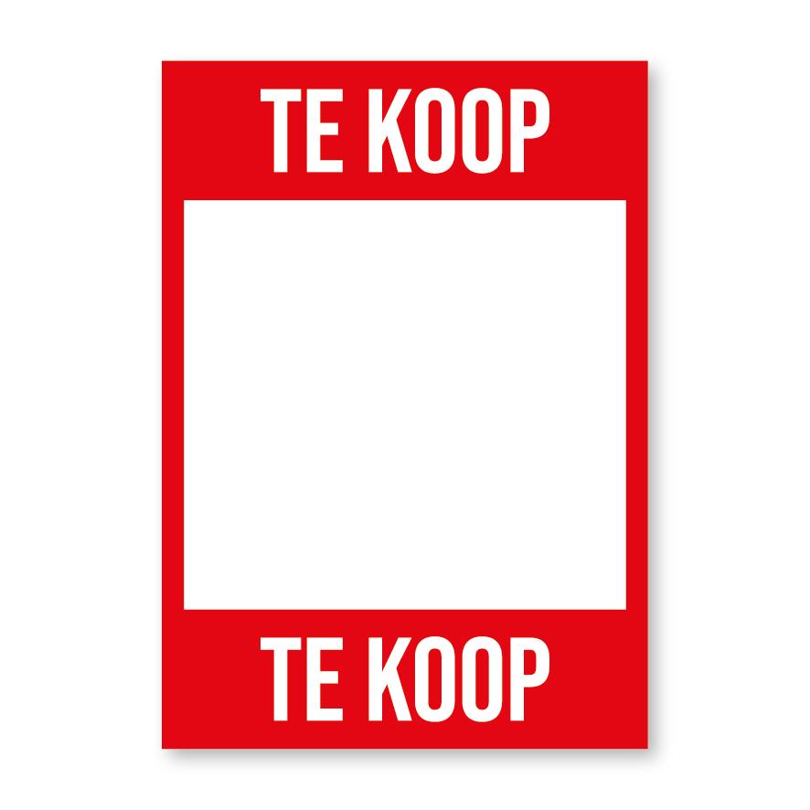 Te Koop poster rood