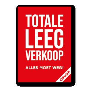 Totale Leegverkoop poster