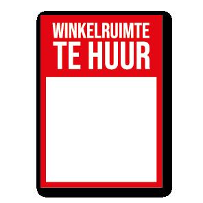 Winkelruimte Te Huur poster rood