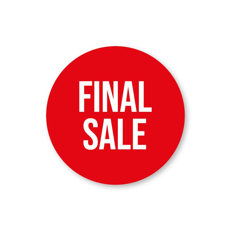 Final Sale raamsticker rood-wit rond