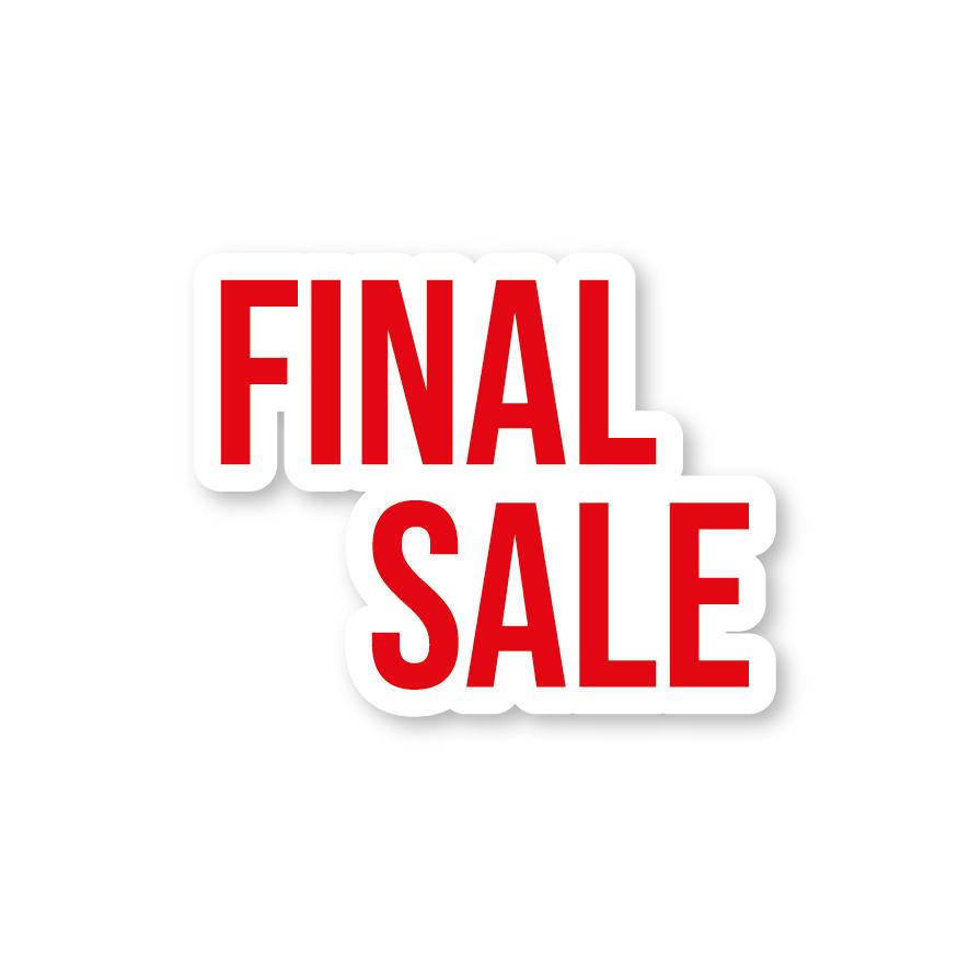 Final Sale raamsticker rood-wit