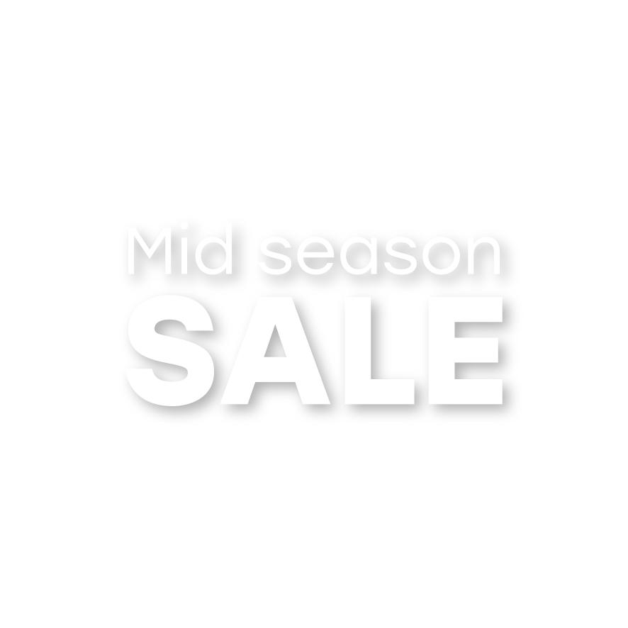 Mid Season Sale raamtekst wit