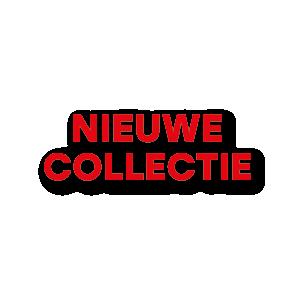 Nieuwe Collectie raamtekst rood
