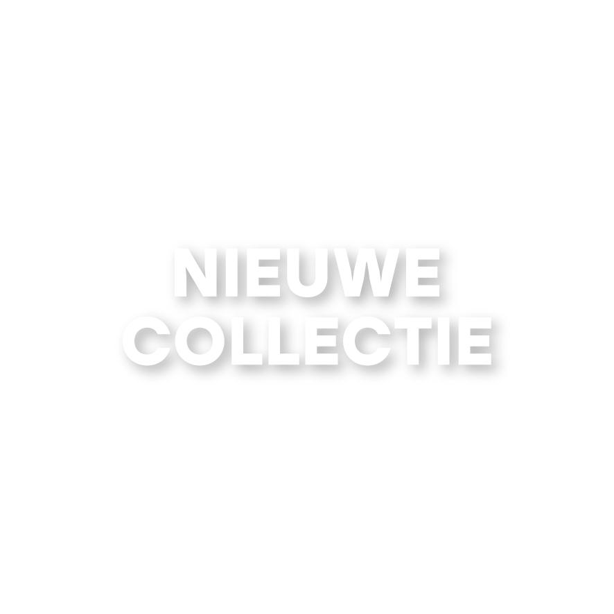 Nieuwe Collectie raamtekst wit