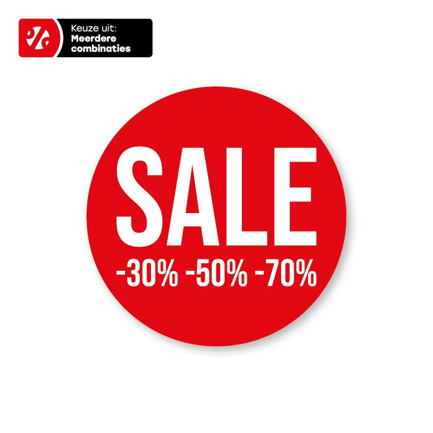 Sale Kortingspercentage's raamsticker
