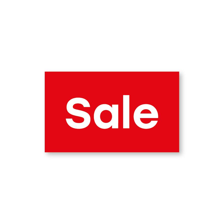 Sale raamsticker rood-wit rechthoek