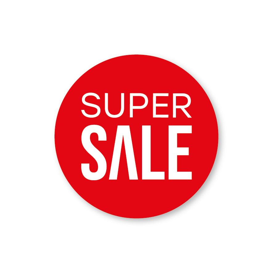 Super Sale raamsticker rood-wit rond