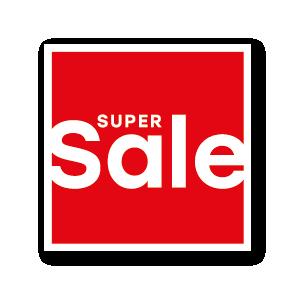 Super Sale raamsticker rood-wit vierkant