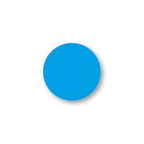 Blanco stickers lichtblauw rond 15mm