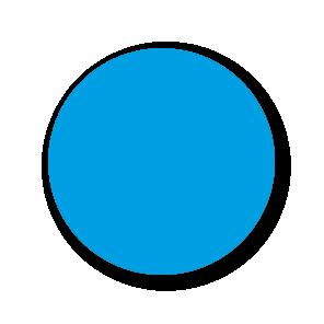 Blanco stickers lichtblauw rond 30mm
