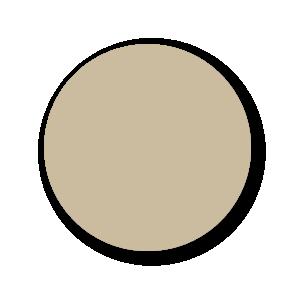 Blanco stickers lichtbruin rond 30mm
