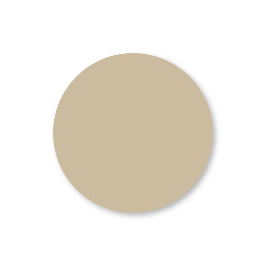 Blanco stickers lichtbruin rond