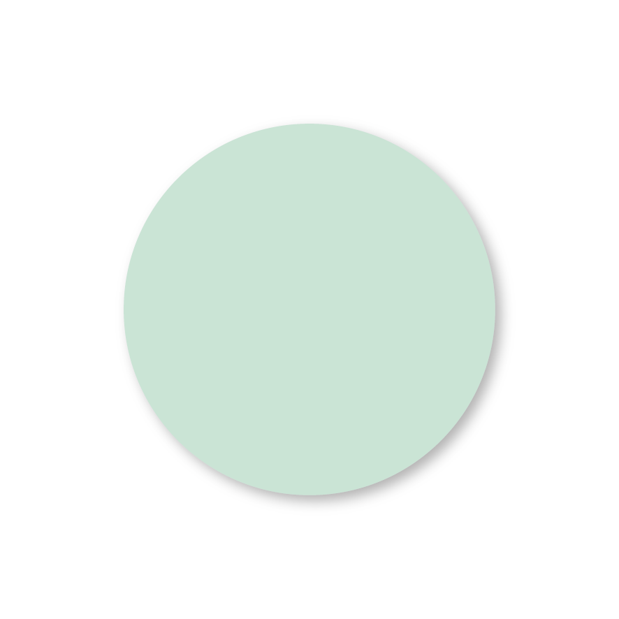 Blanco stickers mint rond
