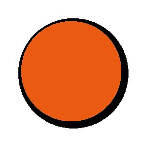 Blanco stickers oranje rond 30mm