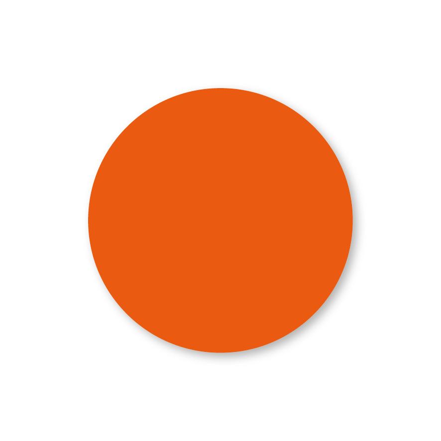 Blanco stickers oranje rond