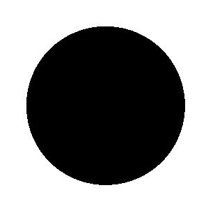 Blanco stickers zwart rond 30mm