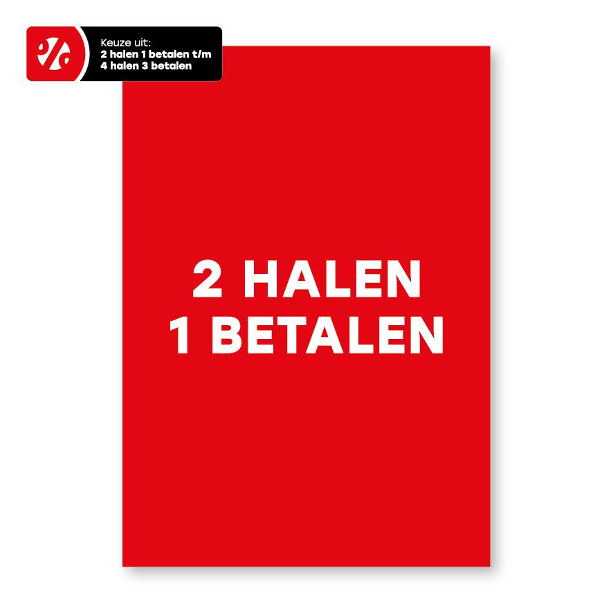 Halen/Betalen poster