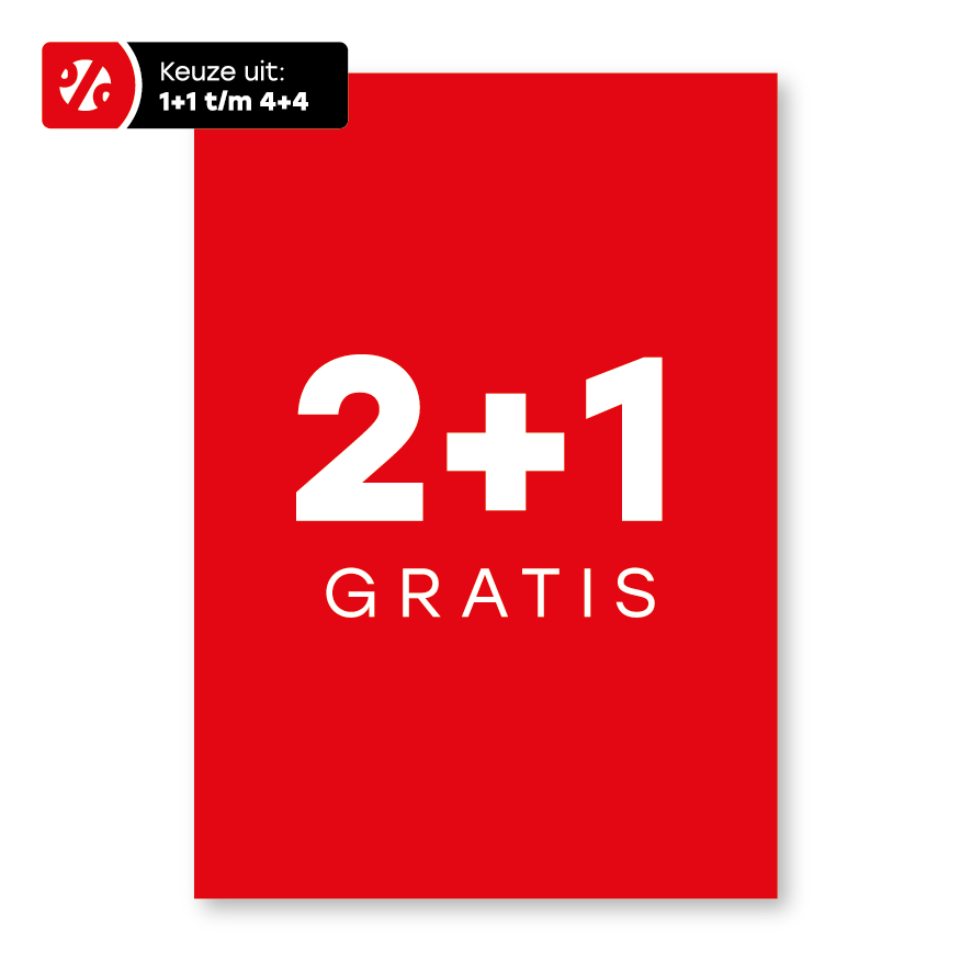 Plus poster rood-wit